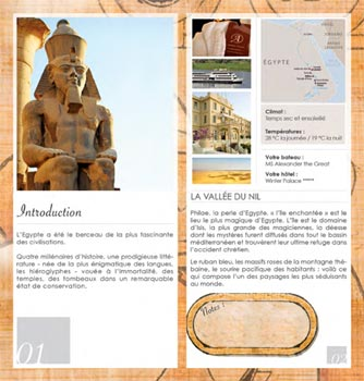 Organization of an incentive travel in Egypt - Program