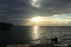 Coucher de soleil Coral Caye copie