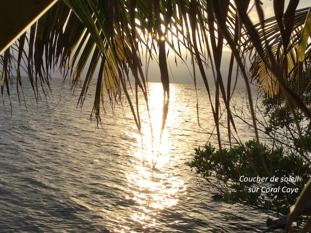 Coucher de soleil Coral Caye